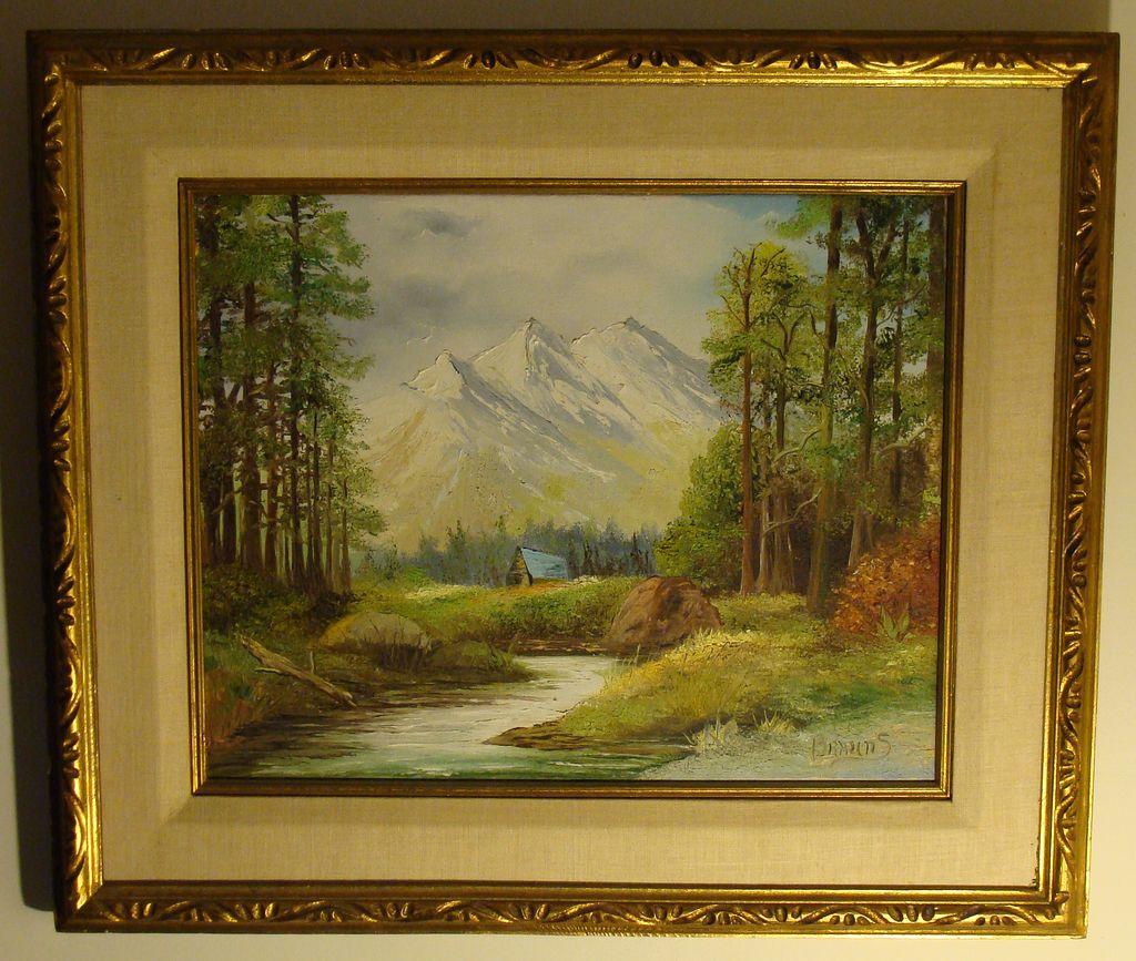 paul lehmann brauns framed orig landscape oil painting on canvas from