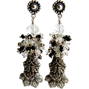 Heirloom Sterling Lion's Paw Amulet Cluster Earrings - Airella Earrings