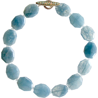Faceted Aquamarine Nuggets Choker Necklace - Bree Necklace