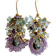 Amethyst Stalactite Cluster Earrings - Seanna Earrings