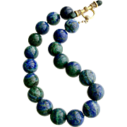 Azurite Malachite Choker Necklace - Taylor Necklace