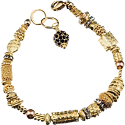Bracelet ~ GILDED CELEBRATION II ~ Vermeil & Gold-Fill, Swarovski Crystals
