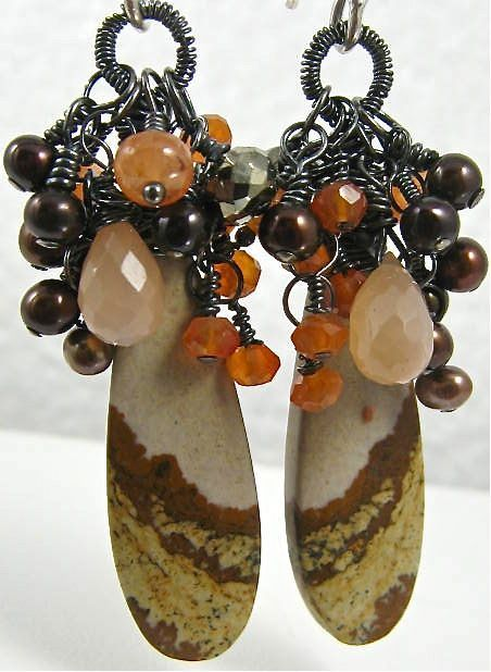 Earrings ~ BLOOMIN' HARVEST ~ Blooming with Gemstones