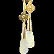 Drop Earrings ~ GOLDEN MORNING ~ Rutilated Quartz, Vermeil, Citrine