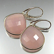 Earrings ~ PINK ANGELS ~ Pink Chalcedony & Sterling