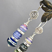 Earrings ~ PURLOINED PAINTINGS ~ Artisan Lampwork, Sterling Silver