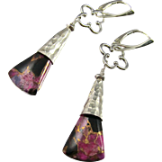 Drop Earrings ~ PINK PIXIES ~ Pink Obsidian, Sterling Silver