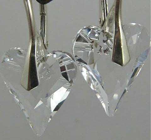 Earrings ~ PURE HEART ~ Swarovski & Crystal
