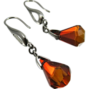 Drop Earrings ~ THE RAIN IN SPAIN ~ Swarovski Crystal, Sterling