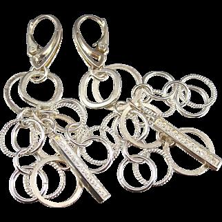 Earrings ~ WHITE LIGHT ~ Cubic Zirconia, Sterling Silver