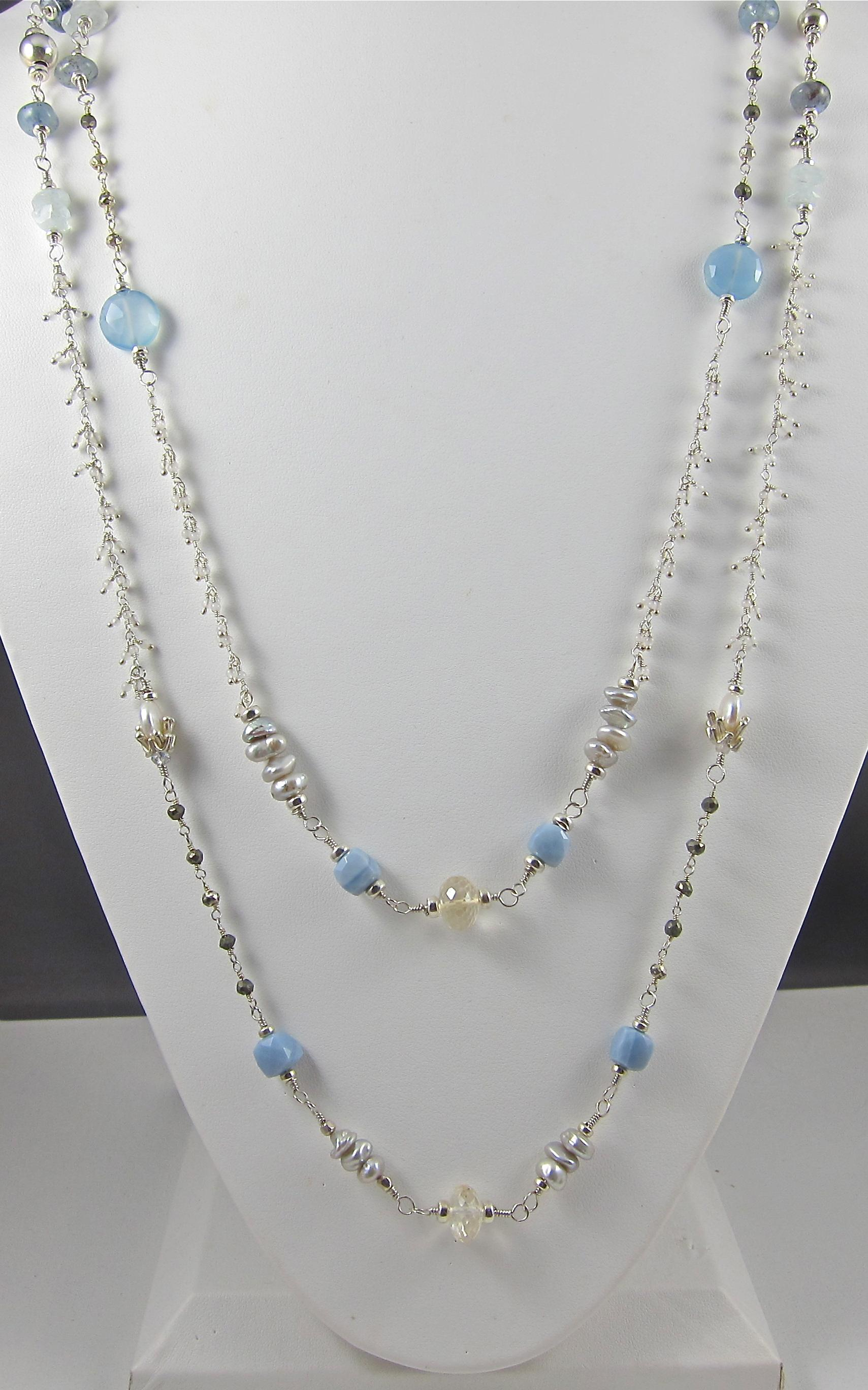 Ippolita necklace from the Rock Candy® Collectionkarat yellow lemkecollier.ga, oval, and tear-shaped stations with blue topaz, Swiss blue topaz, and Quickview Ippolita 18K Gold Rock Candy® Long Station Necklace.