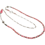 Necklace ~ BLUSHING CANARIES ~ Rhodochrosite, Sterling Silver