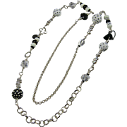 "42"" Long Necklace ~ TUXEDO PARC ~ A Black & White Melange"