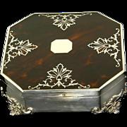 Antique Sterling Silver & Tortoiseshell Box Mappin & Webb Sheffield 1893