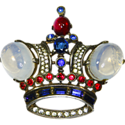 Trifari King Crown Sterling Brooch – 1944 – Alfred Philippe – Brunialti Book Piece