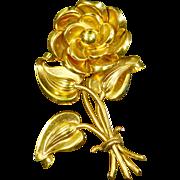 Parisina Marcel Boucher Mexico Floral Brooch – Rose Gold Vermeil
