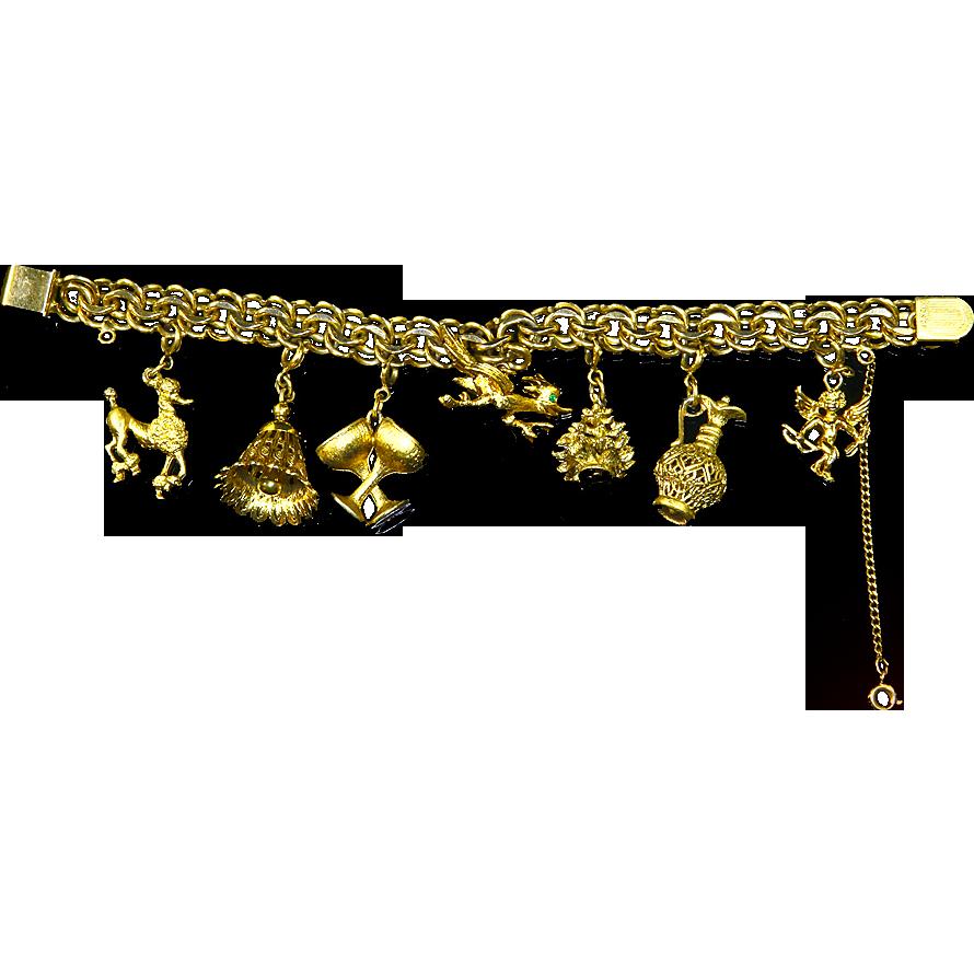 Winard 12 K Gold Filled Double Link Charm Bracelet – Seven Monet Charms