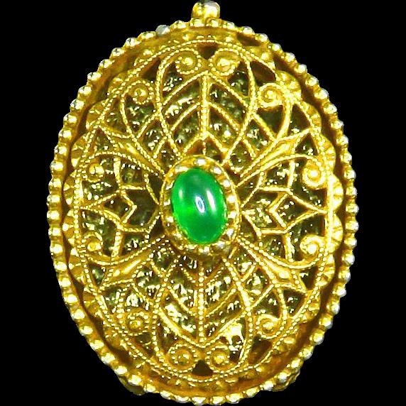 Victorian Revival Ring Poison Or Locket Secret