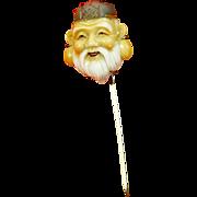 Vintage Toshikane Arita Porcelain Stick Pin – Japan – God of Fortune