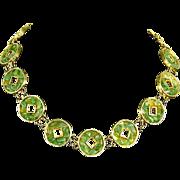 Vintage Swoboda signed Mid Century Modern Necklace – Jade