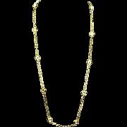 """Swarovski signed Swan Logo 37"""" Rope Necklace – Bezel Set Crystals"""