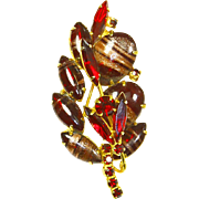 Juliana Delizza & Elster Red Aventurine Red Fluss Two-Dimensional Pin
