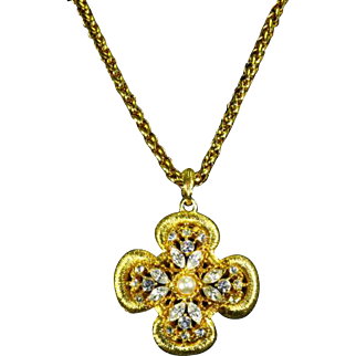 Gene Verri/Verrecchia Gem Craft/Craft Maltese Cross Pendant