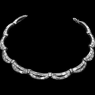 Trifari Rhinestone Baguette Necklace – Alfred Philippe – 1953 –'Premiere'