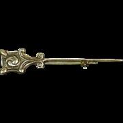 Celtic Art Industries Sterling Silver 'Glasgow Rose' Pin –Hamish Dawson Bowman – 1950s