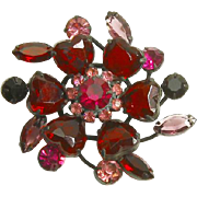 Schreiner unsigned Heart-Shaped Rhinestone Brooch – Magnificent