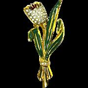 Coro Tulip Tremblant Trembler Brooch – Adolph Katz – 1939 – Book Piece
