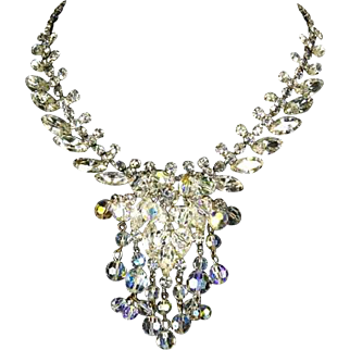 Delizza and Elster Juliana Crystal Bead Dangles Rhinestone Necklace – Book Piece