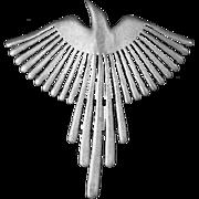 Jonette Jewelry JJ 1988 Flying Bird/Phoenix Brooch – Pewter