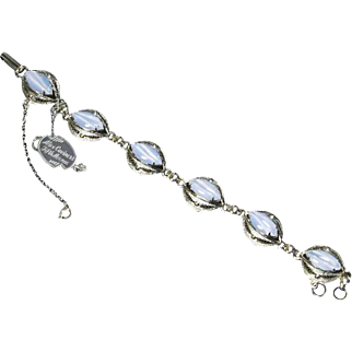 Alice Caviness Pale Blue Moonstone and Sterling Filigree Bracelet – Original Tag