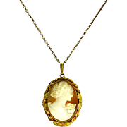 Cameo Pendant/Locket – Carved Shell and 12K Gold filled – 1930s – Al Lindroth Co.
