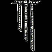 Art Deco Black Celluloid Rhinestone Pin – Huge – 1920s/30s