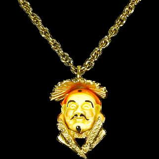 Vintage Napier Asian Man Pendant/Necklace 'Ming'– Book Piece