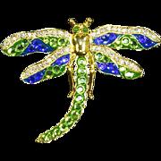 Rare Dragonfly Pin – Vintage Suzanne Bjontegard – Magnificent