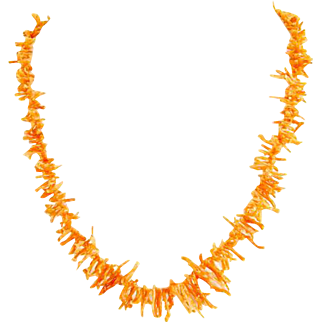 Branch Coral Necklace – Pink/Orange Salmon Color – Undyed