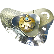 Estate 18 Karat Gold and Sterling Pin/Pendant – Native American