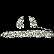 Delizza and Elster Juliana Fabulous Clear Rhinestone Bracelet and Earrings – Five Link