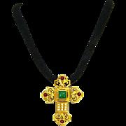Elizabeth Taylor for Avon – Katherina Maltese Cross Pendant/Pin – Book Piece – 1994