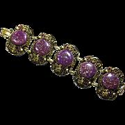 Vintage Selro Verified Lucite Confetti Five Link Bracelet – Hidden Faces