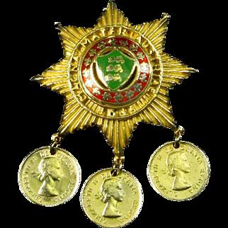 Coro Queen Elizabeth II Coronation Pin – 1953 – Magna Mater Austriae
