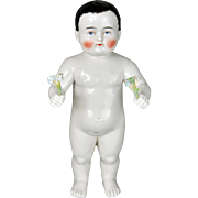 """Antique Frozen Charlie Doll 13"""" Large and Chubby"""
