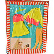 Vintage Barbie Mod Rare Pair NRFB Outfit #1462 c. 1970