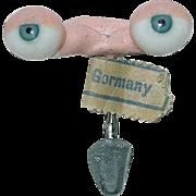 Pair of Old Store Stock ~ German Doll Eyes ~ Bye Lo Doll - Red Tag Sale Item