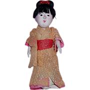 "Vintage 1930s Japanese 4"" Doll - Red Tag Sale Item"