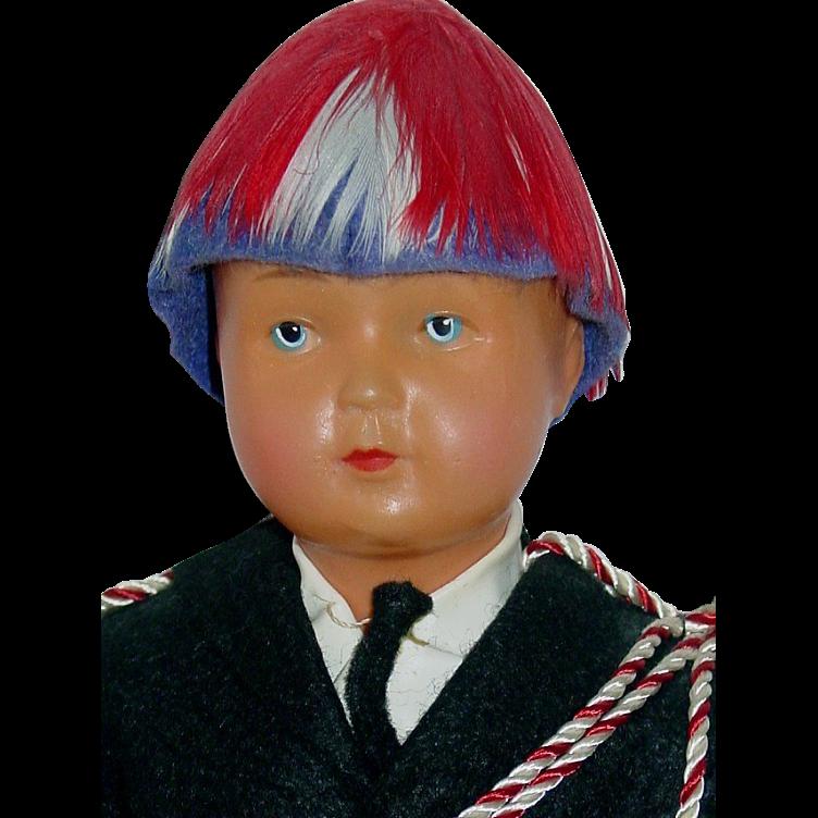 "1956 Unusual Ethnic 11"" Celluloid French Guard Doll ~ Monaco"