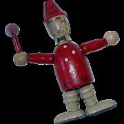 Vintage Jamar ~ Fire Chief Ed Wynn Fireman Wood Segmented Toy Doll Ornament